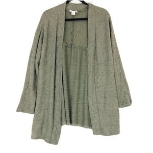 Caslon cardigan olive open front